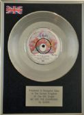 "QUEEN  7"" Platinum Disc  WE ARE THE CHAMPIONS"